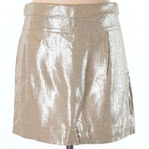 Like New J.Crew Metallic Tan Skirt Size 4 Small